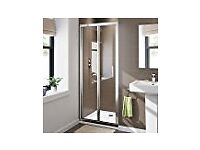 800mm Bifold Easy Clean 6mm Glass Shower Enclosure Reversible Folding Door. Collection Only