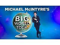 Michael McIntyre's Big World Tour 2018 - SSE Hydro - Saturday 16th June - 4 tickets floor level