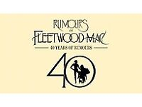 2 x tickets for Rumours of Fleetwood Mac Concert Cardiff Mon 23rd April 18