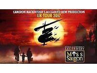 2 Tickets for Miss Saigon at Festival Theatre Edinburgh, Sat 3rd Feb 2018 - Face Value