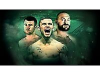 2 x carl frampton boxing tickets, near ringside 18th august