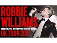 2 x Robbie Williams tickets for Murrayfield, 9th June