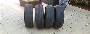 4 pneus d été 205/55/16 bf goodride sport  91h bon pour 2 été a 7/32