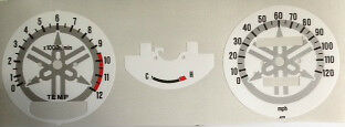 <em>YAMAHA</em> RD250LC RD350LC SPEEDOMETER  TACHOMETER FACE RESTORATION DECAL