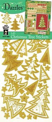 Gold 3D CHRISTMAS TREE DAZZLES Card Making Scrapbooking Stamping