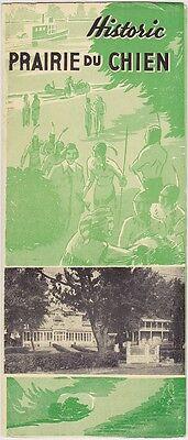1930's Historic Prairie du Chien Wisconsin Brochure