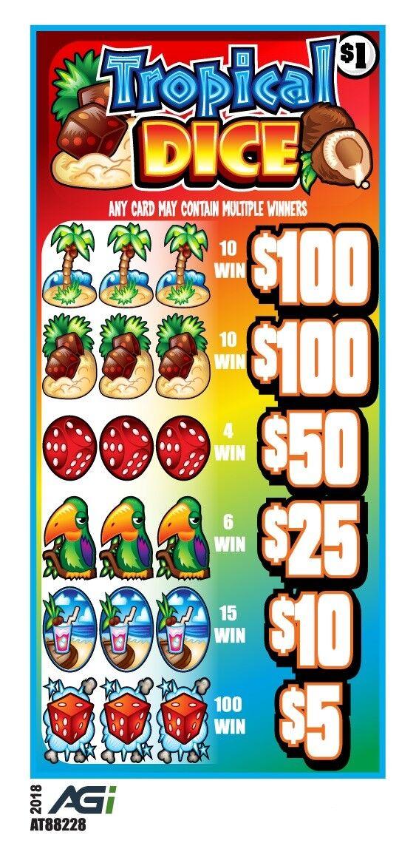"""Vegas Fight Night"" 1 Dollar 5-Tab Pull-Tab Game $100//$5- Non-Redeemable"