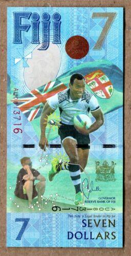 Fiji UNC Note 7 Dollars 2017 P-NEW Commemorative