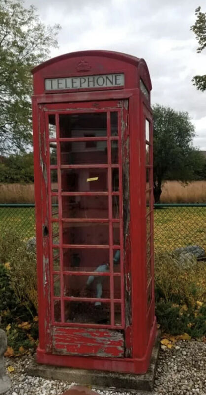 English Telephone Booth K6 . Original Cast Iron Very Rare In The USA