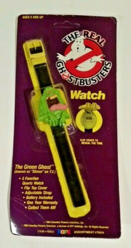 The Real Ghostbusters Slimer Wristwatch Wrist WatchThe Green Ghost NOS