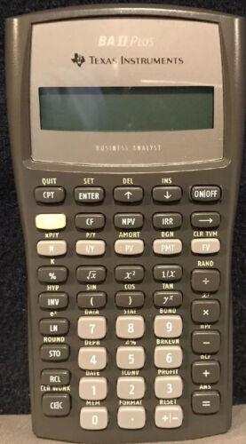 BA II Plus Texas Instruments Business Analysist Financial Calculator