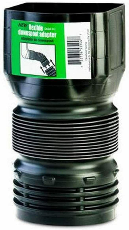 Downspout Extension Adaptor Drain Pipe Spout Gutter Flexible