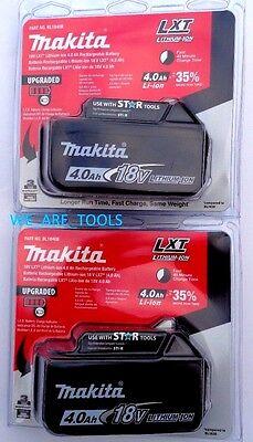 2 NEW IN PACKAGE Makita BL1840B-2 18V GENUINE Battery 4.0 AH Fuel Gauge 18 Volt