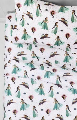 Disney Aladdin Jasmine 3 Piece Twin Size Sheet Set Bedding S