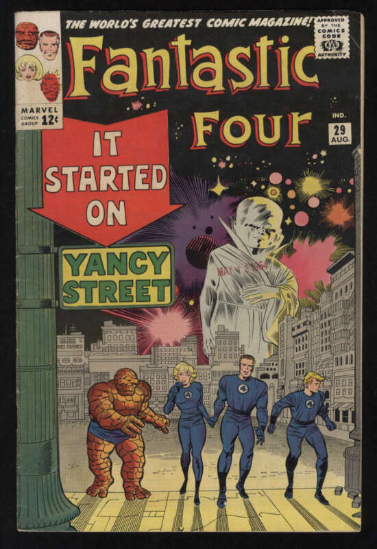 Fantastic Four #29 Fine+ 6.5 OW/W Pgs The Watcher FF Marvel