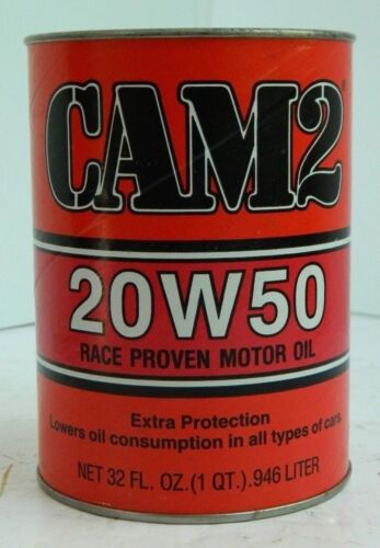 Rare Vintage CAM2 Racing Motor Oil Can Bank, 1 Quart, Sun Refining, NOS, Cam 2
