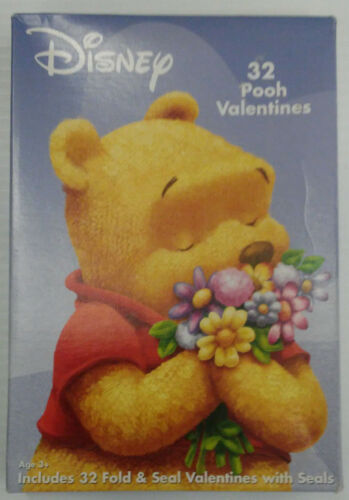 Disney Pooh 32 Valentines Cards - Fold and Seal