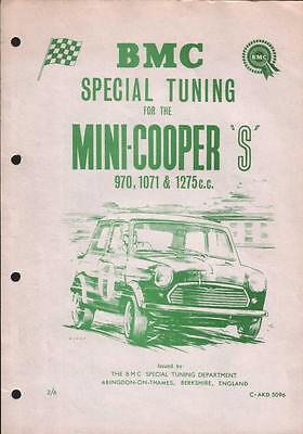 BMC Special tuning BL Morris Mini Cooper & S mk1 Archive Works ST Halda & More
