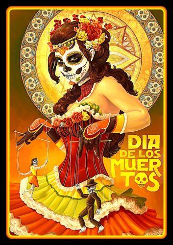 """4.5"""" Dia De Los Muertos vinyl sticker. Mexican Day of the Dead Sugar Skull decal"""