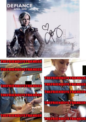 "JULIE BENZ signed Autographed ""DEFIANCE"" 8X10 PHOTO A - PROOF - Amanda COA"