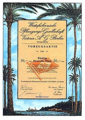 Berlin  Westafrikanische Pflanzungs-Gesellschaft Victoria Vorzugsaktie 1984