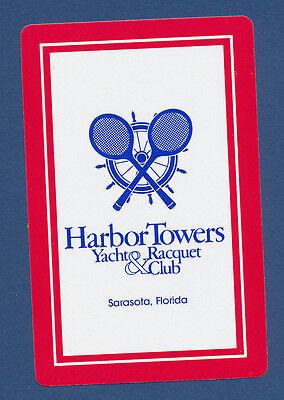 Harbor Towers Yacht Racquet Club Sarasota Florida playing card single ace 1 card