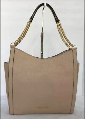 MIchael Kors Newbury Leather Medium Chain Shoulder Tote Bag Color-Oyster NWT