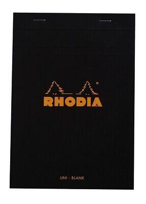 Rhodia Staplebound Notebook 6 X 8 Blank Paper Black