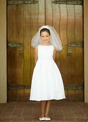 Classic Pearl Pleated Holy First Communion Flower Girl Dress Wedding Bridesmaid - First Holy Communion Dress