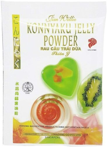 4 Packs | Konnyaku Crystal Jelly Powder | by Jim Willie of Singapore | 10g each