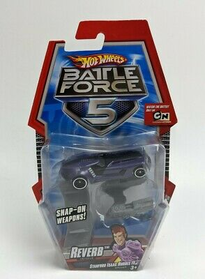 Hot Wheels Battle Force 5 Reverb Car With Snap-on Blasters Unused