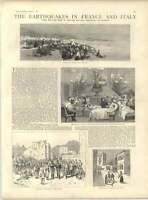 1887 Earthquakes France And Italy 1 Mentone Nice - earth - ebay.co.uk