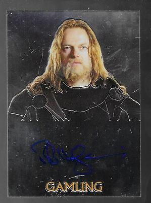 Lord of the Rings Trilogy autograph card Bruce Hopkins - Gamling FREE ship USA