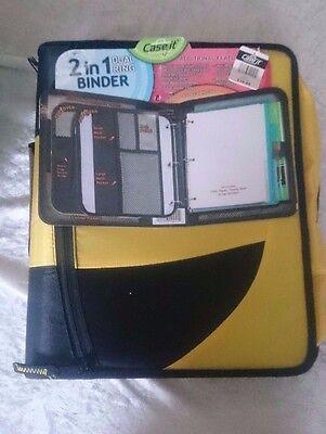 Case It Dual-100 Dual Binder 2-in-1 Zipper Binder