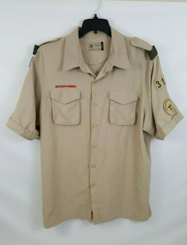 Boy Scouts of America BSA Mens Size XL Vented Short Sleeve Button Shirt