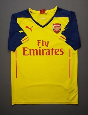4a9f4bf3c34 4.9 5 Arsenal jersey SMALL 2014 2015 football soccer away shirt Puma