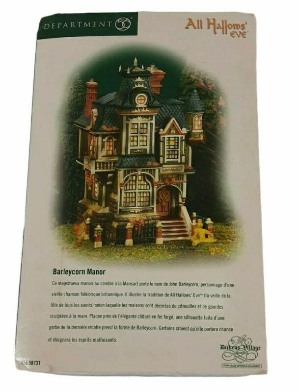 Dept 56 Dickens Village All Hallows' Eve Barleycorn Manor Halloween In Box