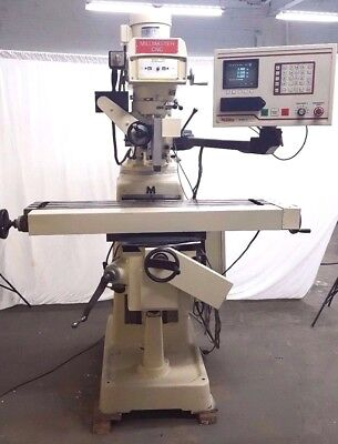 Tri-onics 3 Axis Cnc Milling Machine 42 Inch Table 3 Hp Mill Miller Bridgeport