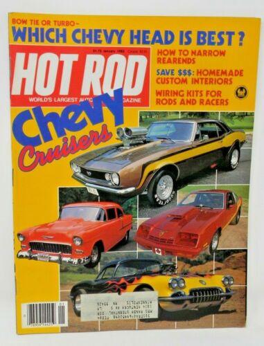 Hot Rod Magazine - January 1983 - Chevy Cruisers
