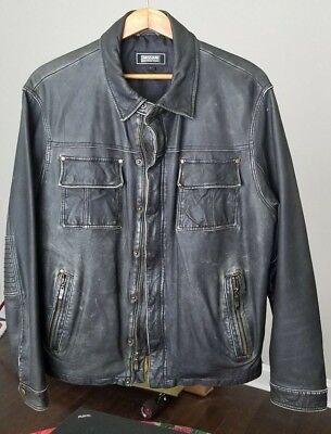 Missani leather jacket Men Large biker varvatos all saints