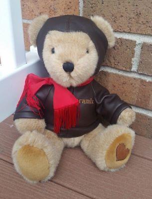 (Aramis Pilot Aviator Brown Teddy Bear Plush.)