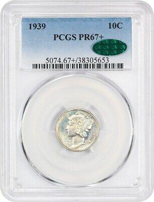 1939 10c PCGS/CAC PR 67+ Mercury Dime
