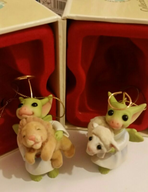 RL 💖 Pocket Dragons Dragon *Mint in Box* 🐑The Lion and The Lamb🦁 * 2004 *