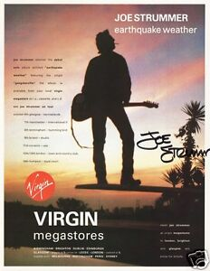 Joe Strummer - Earthquake Weather Signed Promo Poster