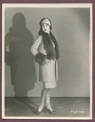FAY WRAY Flapper Girl Business Suit LINEN MOUNTED 1920s Glamour Photo J833