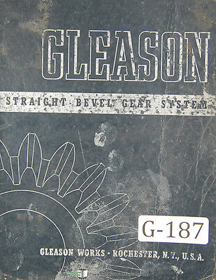 Gleason Beveled Gear System Tooth Proportion 13 - 30 Per Pinion Manual 1942