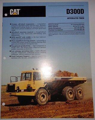 Caterpillar D300d Articulated Truck Sales Brochure Cat Literature Ad 1991