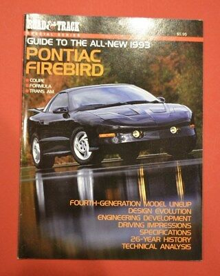 1993 Pontiac Firebird Trans Am 81-page Sales Brochure Guide by Road Track N.O.S.