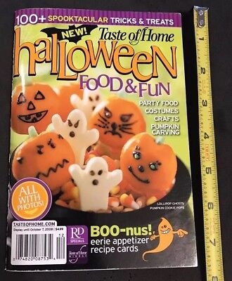 Taste of Home's Cook Booklet- 80 pages Halloween  Food and Fun 2008](Halloween Fun Pages)