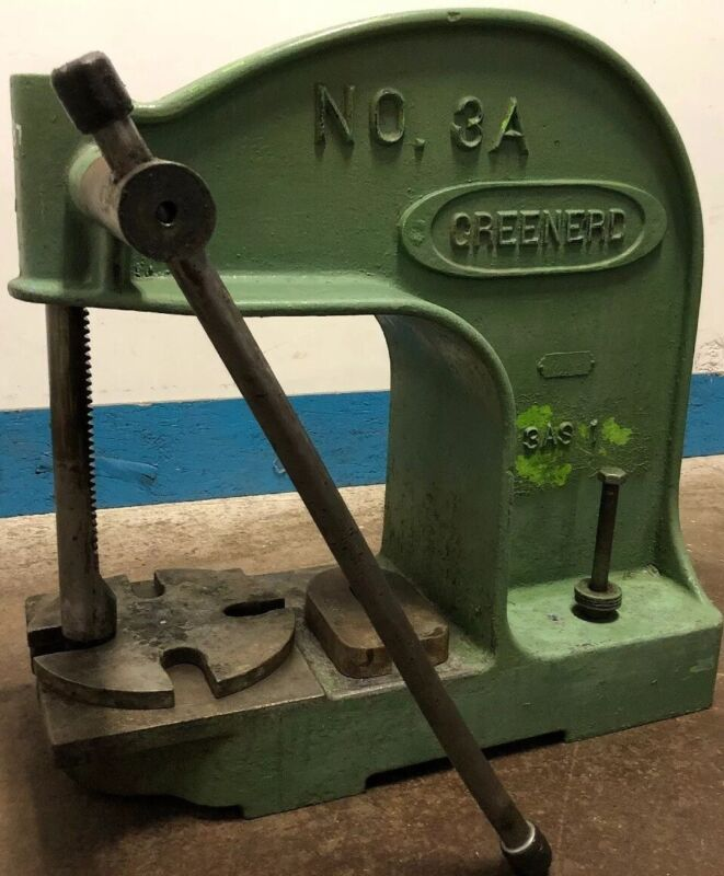 Vintage Industrial Greenerd NO. 3A 3AS1 Model Cast Iron Arbor Press. Our #2